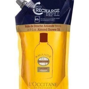 Loccitane Almond Shower Oil Refill Suihkuöljy Täyttöpakkaus 500 ml