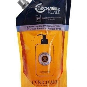 Loccitane Shea Liquid Soap Eco Refill Lavender Nestesaippua Täyttöpakkaus 500 ml