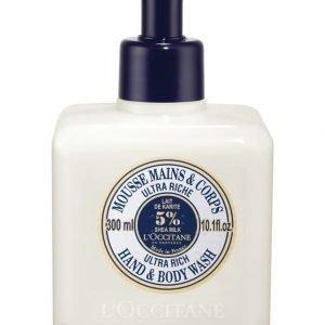 Loccitane Shea Ultra Rich Hand & Body Wash Suihkusaippua 300 ml