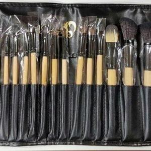 London Pride Soft Leather 24pc Bamboo Brush Set Meikkisivellinsetti