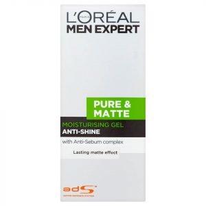 L'oréal Men Expert Pure & Matte Anti-Shine Moisturising Gel 50 Ml