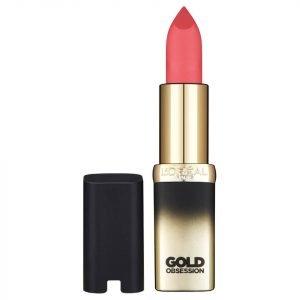 L'oréal Paris Color Riche Gold Obsession Lipstick Cp37 Pink Gold