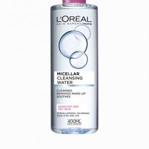 L'oréal Paris Micellar Cleansing Water Sensitive / Dry Skin 400 Ml Meikinpoistoaine