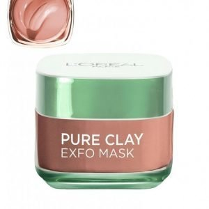L'oréal Paris Pure Clay Exfo Mask Kasvonaamio Beige