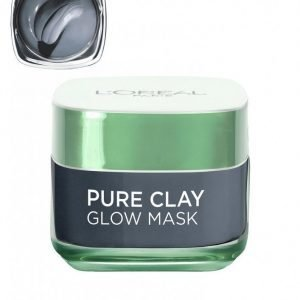 L'oréal Paris Pure Clay Glow Mask Kasvonaamio Harmaa