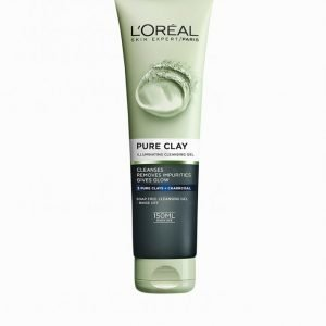 L'oréal Paris Pure Clay Illuminating Cleansing Gel 150 Ml Meikinpoistoaine Charcoal