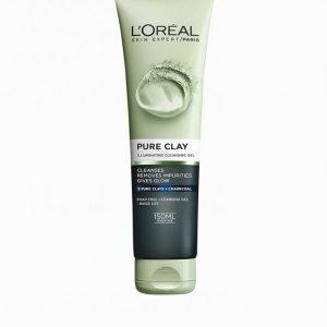 L'oréal Paris Pure Clay Illuminating Cleansing Gel 150 Ml Meikinpoistoaine Charcoal