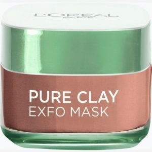 L'oréal Paris Pure Clay Mask Exfo 50 Ml Kasvonaamio