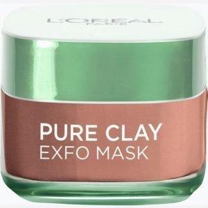 L'oréal Paris Pure Clay Mask Exfo 50 Ml Kasvonaamio