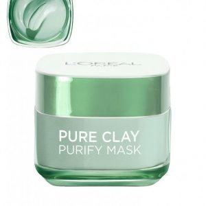 L'oréal Paris Pure Clay Purify Mask Kasvonaamio Vihreä