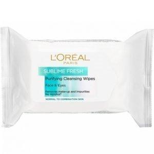 L'oréal Paris Sublime Fresh Wipes 25 Kpl Puhdistusliinat