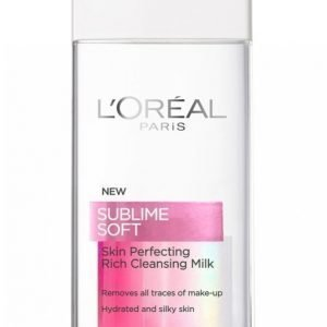 L'oréal Paris Sublime Soft Rich Cleansing Milk 200ml Puhdistusmaito