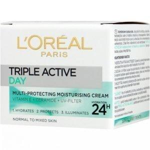 L'oréal Paris Triple Active Jar Normaalille Iholle 50 Ml Päivävoide