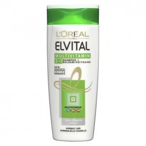 Loreal Elvital Multivitamin 2in1 Shampoo + Hoitoaine 250 Ml