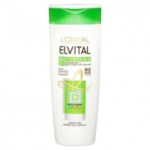 Loreal Elvital Multivitamin 2in1 Shampoo + Hoitoaine 400 Ml