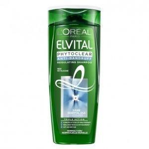 Loreal Elvital Phytoclear Regulating Hilseshampoo Normaaleille Hiuksille 250 Ml
