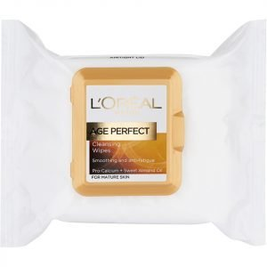 L'oreal Paris Age Perfect Cleansing Wipes For Mature Skin 25 Wipes