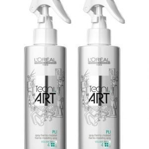 Loreal Professional Tecni.Art Pli Shaper Heat Activated Setting Spray Kampausneste 2 X 190 ml