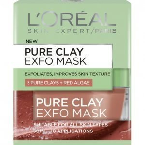 Loreal Pure Clay Exfo Mask Kasvonaamio 50 Ml