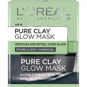 Loreal Pure Clay Glow Mask Kasvonaamio 50 Ml