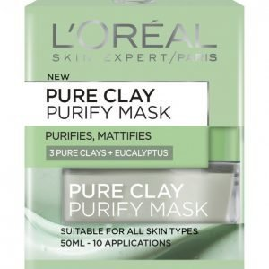 Loreal Pure Clay Purify Mask Kasvonaamio 50 Ml