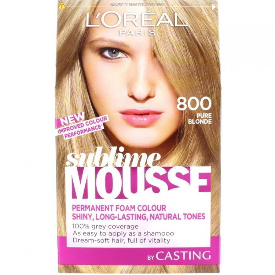 L'oreal Sublime Mousse Hair Colour 800 Pure Blonde Hiusväri