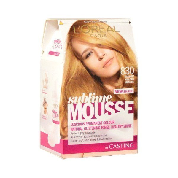 L'oreal Sublime Mousse Hair Colour 830 Radiant Blonde Hiusväri