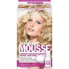 L'oreal Sublime Mousse Hair Colour 90 Pure Light Blonde Hiusväri