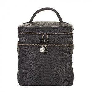 Lulu's Beauty Bag Grey Snake