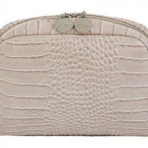 Lulu's Makeup Bag Beige Croco