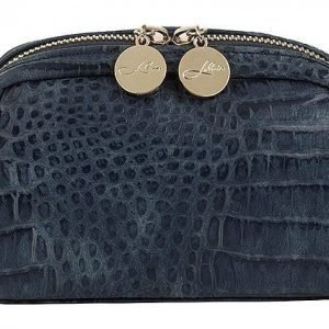 Lulu's Makeup Bag Ocean Blue Croco