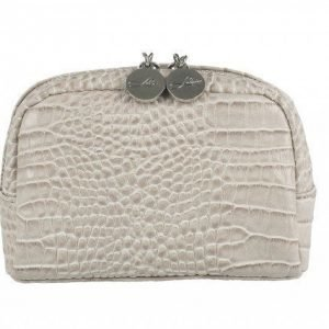 Lulu's Makeup Bag Small Beige Croco