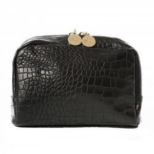 Lulu's Makeup Bag Small Black Croco