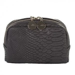 Lulu's Makeup Bag Small Grey Snake