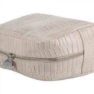 Lulu's Toilet Bag Beige Croco