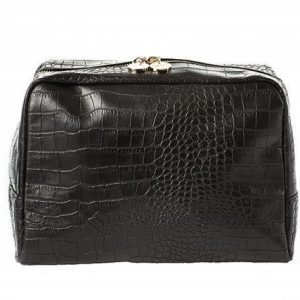 Lulu's Toilet Bag Black Croco