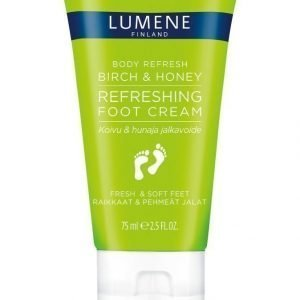 Lumene Body Refresbody Refresh Birch & Honey Refreshing Foot Cream Jalkavoide 75 ml