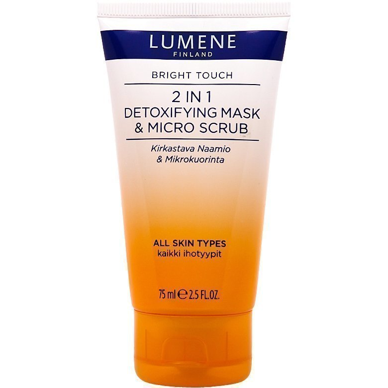 Lumene Bright Touch 2in1 Detoxifying Mask & Micro Scrub 75ml