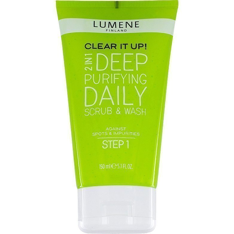 Lumene Clear It Up! 2in1 Deep Purifying Daily Scrub & Wash 150ml