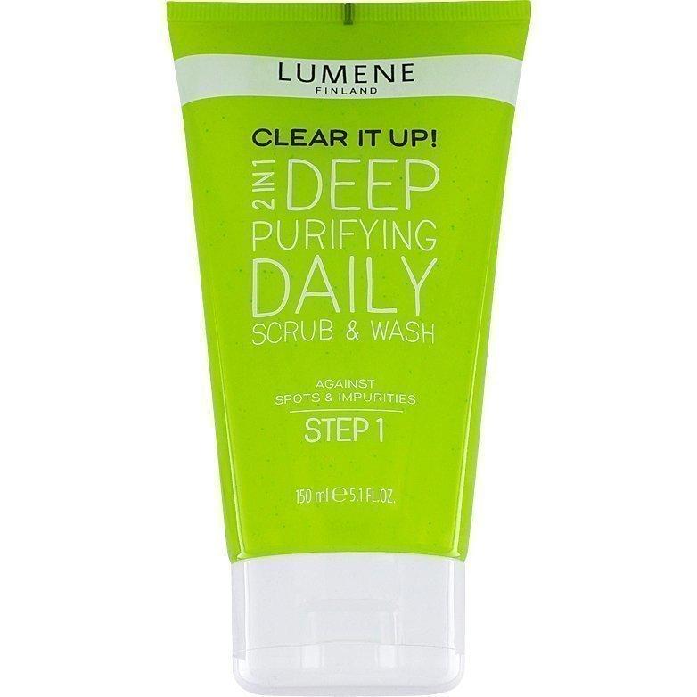 Lumene Clear It Up! 2in1 Deep Purifying Daily Scrub & Wash 150ml