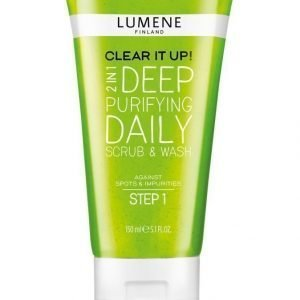Lumene Clear It Up 2n1 Deep Purifying Daily Scrub & Wash Kuoriva Geelipesu 150 ml