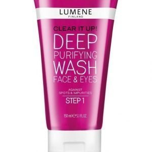 Lumene Clear It Up Deep Purifying Wash Face & Eyes Syväpuhdistava Geelipesu 150 ml