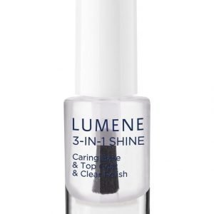 Lumene Gloss & Care 3in1 Shine Caring Base & Top Coat & Clear Polish Alus Ja Päällyslakka