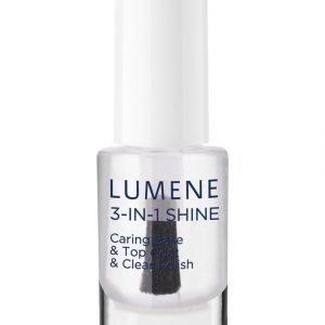 Lumene Gloss & Care 3in1 Shine Caring Base & Top Coat & Clear Polish Alus Ja Päällyslakka