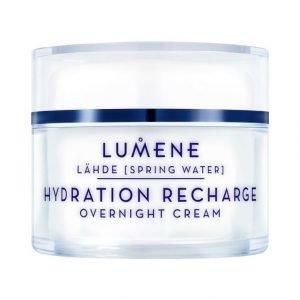 Lumene Lähde Hydration Recharge Overnight Cream Tehokosteuttava Yövoide 50 ml