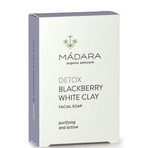 Mádara Blackberry White Clay Clarifying Face Soap 70 G