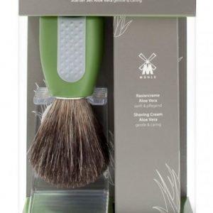Mühle Shaving brush + Shaving Cream Pure badger Aloe Vera