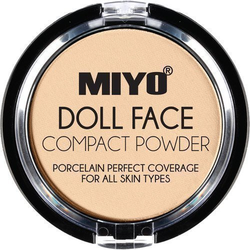 MIYO Doll Face Compact Powder Camel
