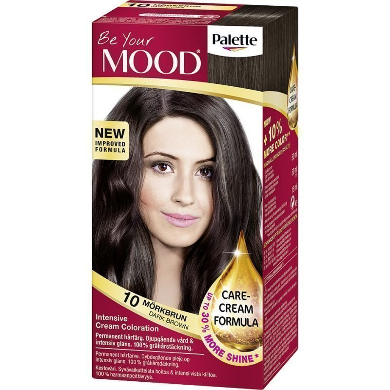 MOOD Hair Colour 4 in 1 No. 10 Dark Brown