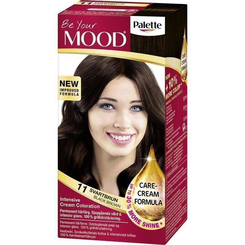 MOOD Hair Colour 4 in 1 No. 11 Black Brown